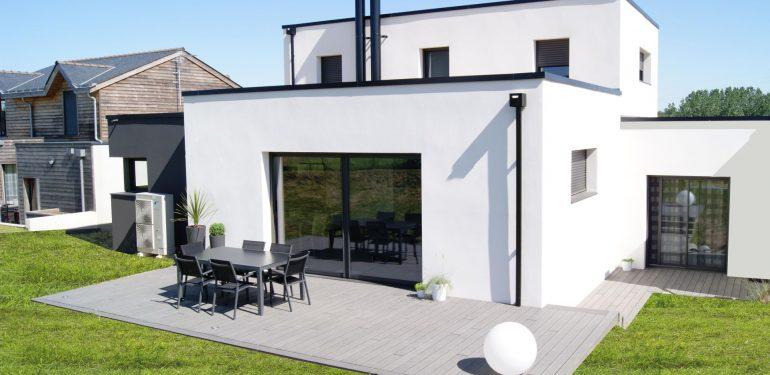 construction d'une maison individuelle de type contemporaine réalisée par Demeures Nantaises